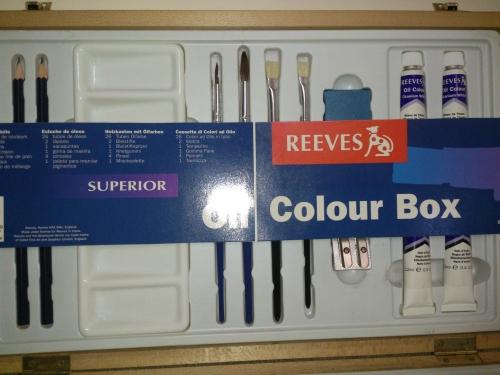 ست جعبه چوبی رنگ روغن ریوز